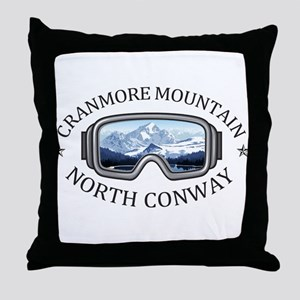 Cranmore Mountain Resort - North Co Throw Pillow