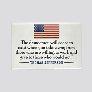 'Jefferson: Democracy will cease to exist Rectangl