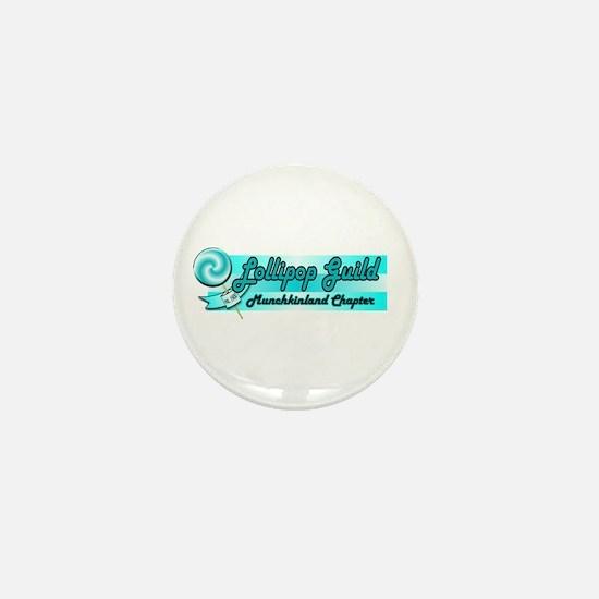 Lollipop Blue Mini Button