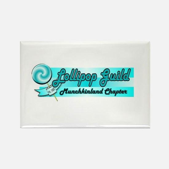 Lollipop Blue Rectangle Magnet