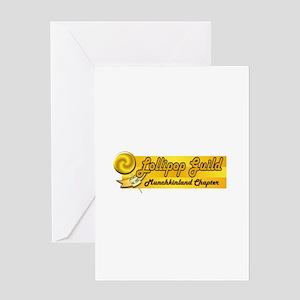 Lollipop Orange Greeting Card