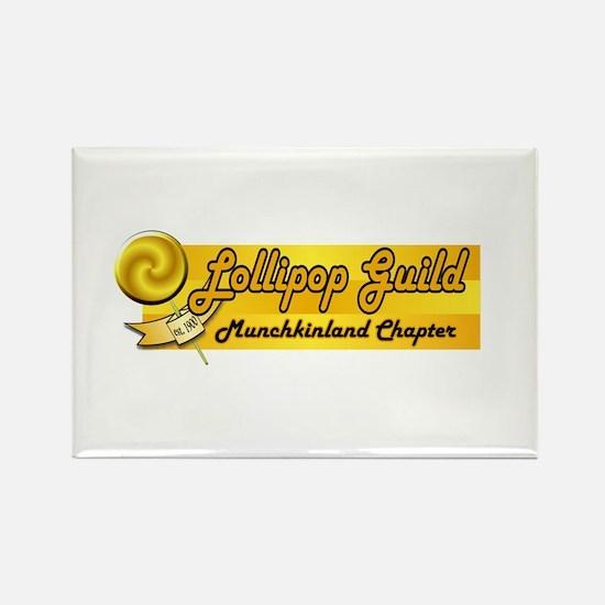 Lollipop Orange Rectangle Magnet