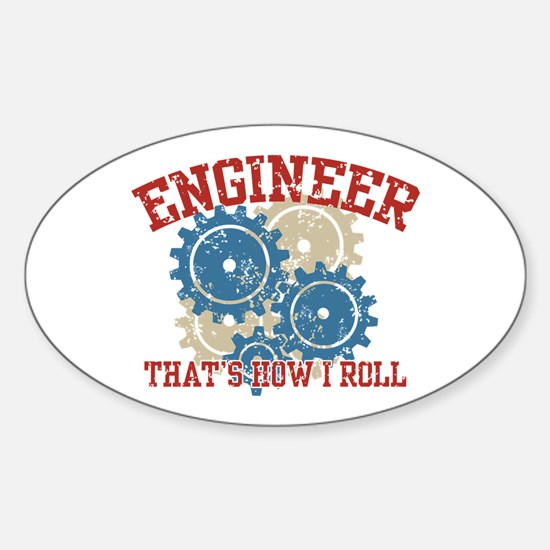 Engineer Oval Decal