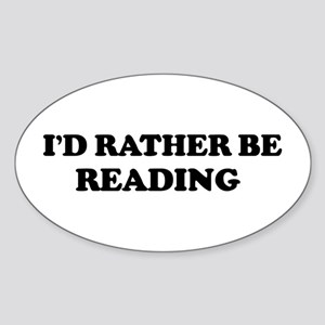Rather be Reading Oval Sticker