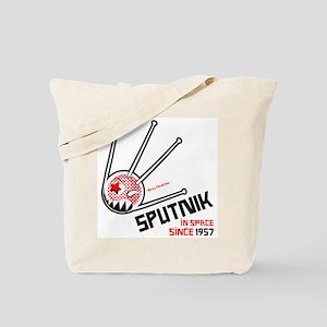 sputnik clear black and red Tote Bag