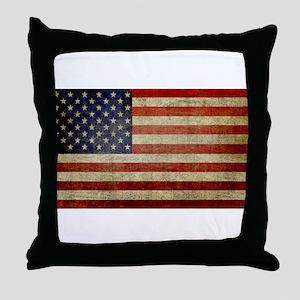 Antique Flag Throw Pillow