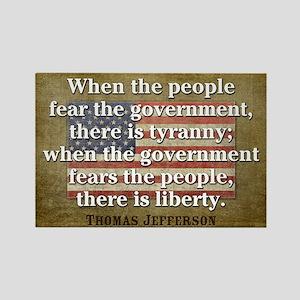 Jefferson: Liberty vs. Tyranny Rectangle Magnet