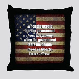Jefferson: Liberty vs. Tyranny Throw Pillow