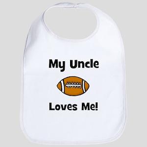 My Uncle Loves Me - Football Bib