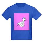 Cute Duck Kids Dark T-Shirt (Purple)