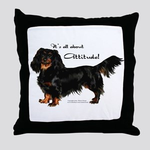 Dachshund Attitude Throw Pillow