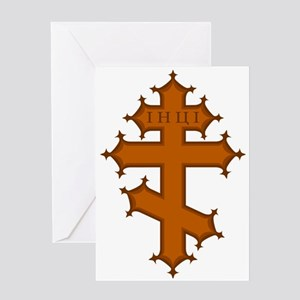 Russian Cross Greeting Card