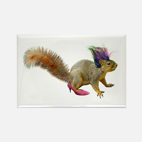Dress-up Squirrel Rectangle Magnet