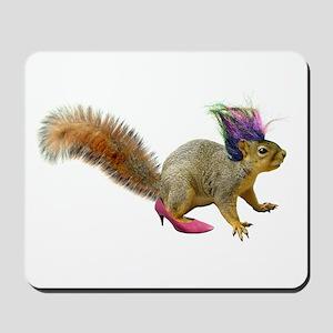 Dress-up Squirrel Mousepad