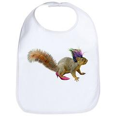 Dress-up Squirrel Bib