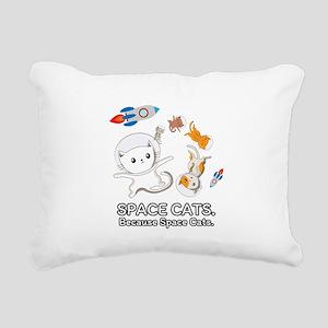 Space Cats - Spaceship G Rectangular Canvas Pillow