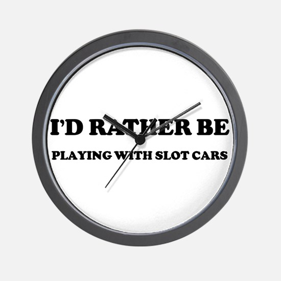 Rather be Playing with Slot C Wall Clock