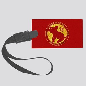 2019 Year Of The Pig Large Luggage Tag