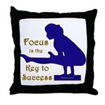 Gymnastics Throw Pillow - Focus