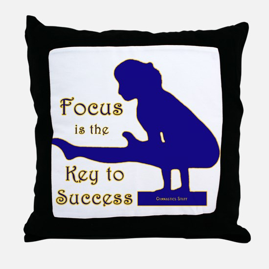 Gymnastics Throw Pillow - Focus
