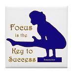 Gymnastics Tile Coaster - Focus