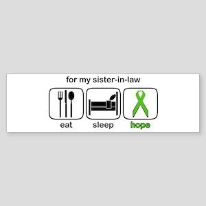 Sister-in-law ESHope Lymphoma Bumper Sticker