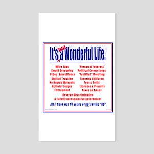It's (not) a Wonderful Life. Rectangle Sticker