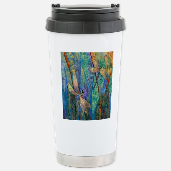 Colorful Dragonflies Stainless Steel Travel Mug