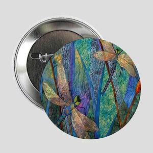 "Colorful Dragonflies 2.25"" Button"