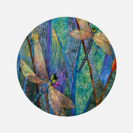"""Colorful Dragonflies 3.5"""" Button (100 pack)"""