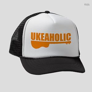 funny ukulele uke ukelele Kids Trucker hat