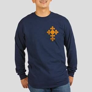 Romanian Cross Long Sleeve Dark T-Shirt