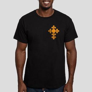 Romanian Cross Men's Fitted T-Shirt (dark)