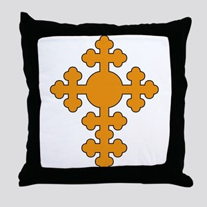 Romanian Cross Throw Pillow