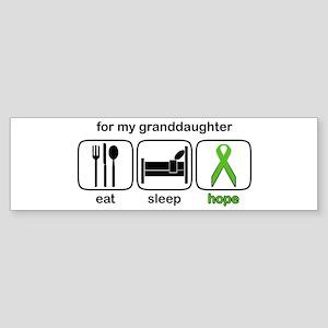 Granddaughter ESHope Lymphoma Bumper Sticker