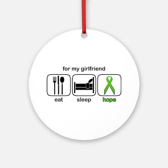 Girlfriend ESHope Lymphoma Ornament (Round)