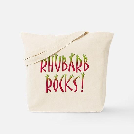Rhubarb Rocks Tote Bag