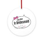 Jr. Bridesmaid Ornament (Round)