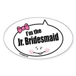 Jr. Bridesmaid Oval Sticker