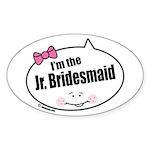 Jr. Bridesmaid Oval Sticker (10 pk)