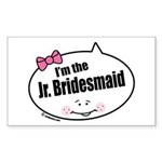 Jr. Bridesmaid Rectangle Sticker