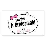 Jr. Bridesmaid Rectangle Sticker 50 pk)