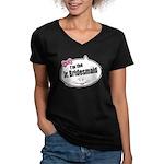Jr. Bridesmaid Women's V-Neck Dark T-Shirt