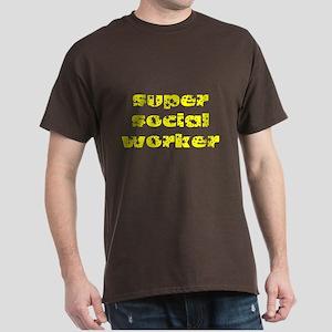 super social worker (Yellow) Dark T-Shirt