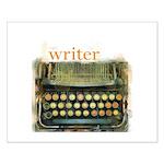 typewriter writer Small Poster