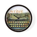 typewriter writer Wall Clock