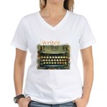 typewriter writer Women's V-Neck T-Shirt