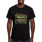 typewriter writer Men's Fitted T-Shirt (dark)