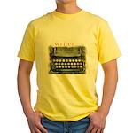typewriter writer Yellow T-Shirt