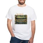 typewriter writer White T-Shirt